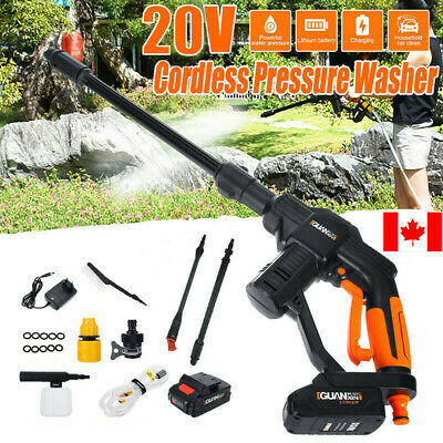 20V Car Wash Gun High Pressure Water Cleaning High Power Sprayer Sprinkler Tool