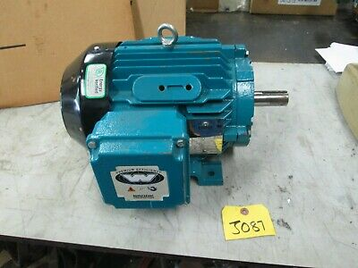 "Brook Crompton Motor P/N: BC4N003-4 230-460V 1760 RPM 1-1/8"" Shaft 3 HP (New)"