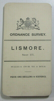 1899 Old OS Ordnance Survey Ireland One-Inch Second Edition Map 177 Lismore