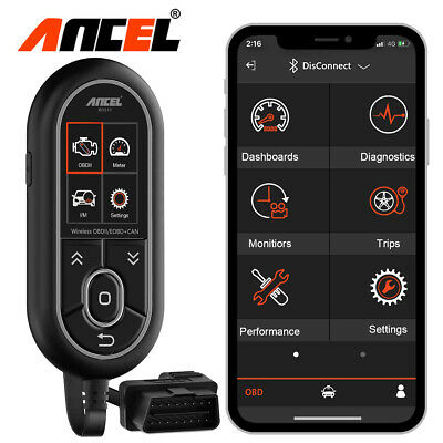 Bluetooth Professional OBDII Code Reader Vehicle Scan Tool Fr Android and iPhone