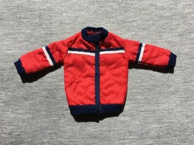 Sindy Alpine Sports 1983 red padded quilt winter ski jacket 44131 doll scale 1:6