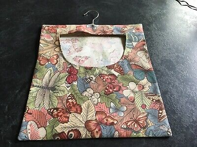 Hand Made Laundry Peg Bag With Wooden Hanger Butterflies plus Other Insects