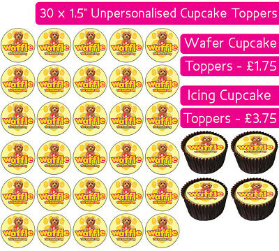 30 Waffle The Wonder Dog Edible Wafer & Icing Cupcakes Toppers Birthday Party