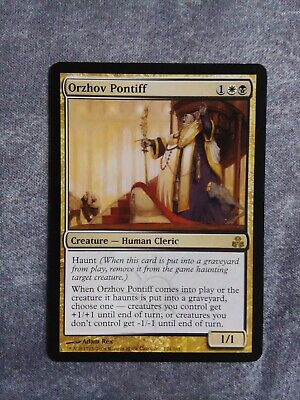 Mtg Orzhov Pontiff Free Post Guildpact Mtg Individual Cards When orzhov basilica comes into play, return a land you control to its owner's hand. mtg orzhov pontiff free post guildpact