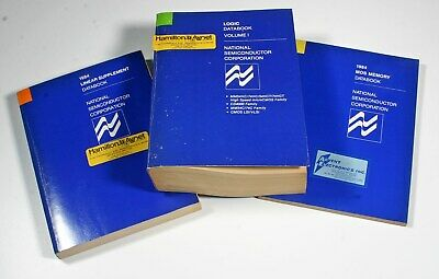 1984 National Semiconductor Data Books - 3 Total