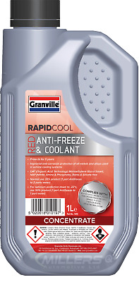 Granville Rapid Cool Red / Pink Anti Freeze & Coolant Concentrate 1L