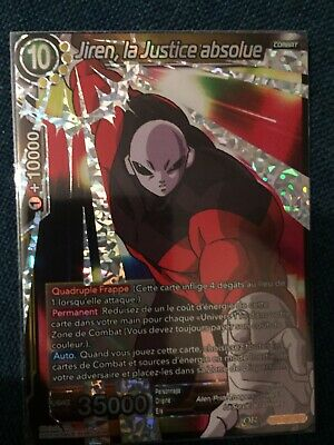 Carte Dragon Ball Super JIREN LA JUSTICE ABSOLUE TB1-081 SR DBZ FR NEUF