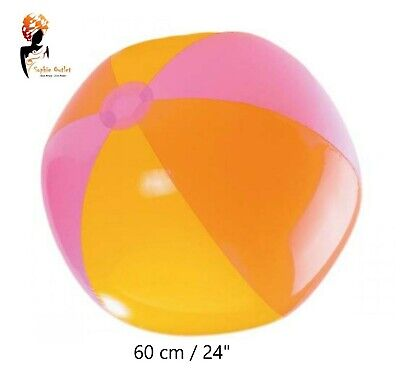"""60cm/24"""" INFLATABLE BEACH BALL Blow up Panel Swimming Garden Holiday Party Toy"""