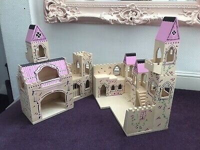Melissa And Doug Wooden Folding Princess Fairy Castle With
