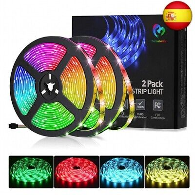 Tira LED 10M(5Mx2) RGB 5050, Bellababy Tira LED Vistoso con Control Remoto de