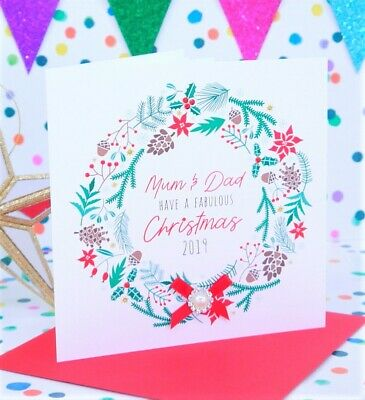 Personalised Handmade Christmas Card, Daughter, Nanny, Son, Mum & Dad, Sister