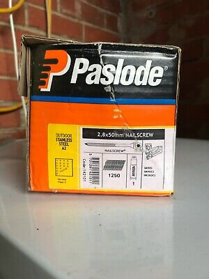 1 Box 1250 stainless steel paslode nailscrews 2.8x50mm