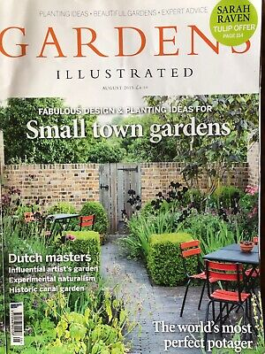 Gardens Illustrated Magazine August 2015 Issue - Potagers, Small Town Gardens