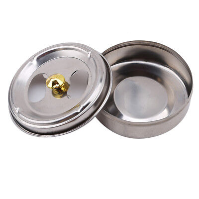 Stainless Steel Round Ashtray With Lid Cigarette Smoking Ash Holder Ashtray Z