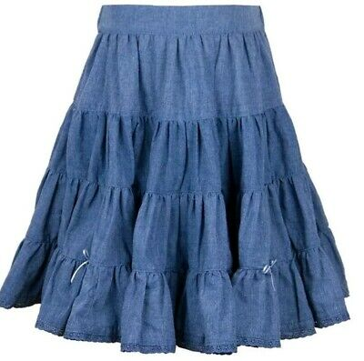 BNWT Girls Blue Chambray Denim skirt. Age 2-3 but more of a 3-4 yr fit