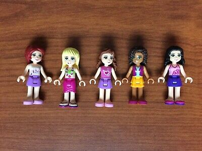 4 Friends Set Lego Minifigure Keychains Mia Andrea /& Stephanie Emma