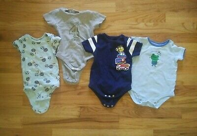 Infant Boys 6-12M one piece short sleeve 4 piece lot