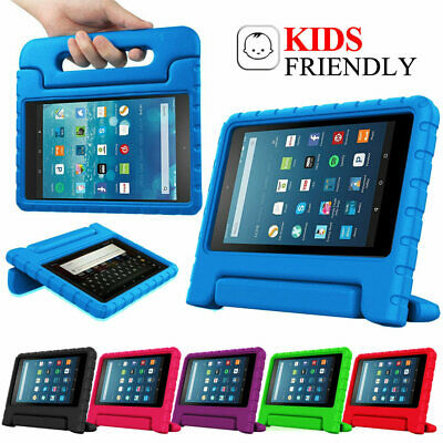 """For Amazon Fire 7"""" HD 8"""" Tablet ShockProof EVA Foam Handle Kids Stand Cover Case"""