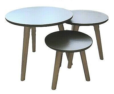 Hudson Living Bergen Modern Coffee Table 3 piece nested Tables   rrp £165