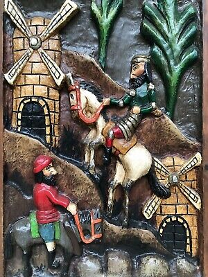 Spanish Carved Polychrome panel / carving in wood