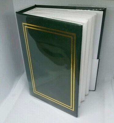 100 Book Bound Picture Photo Album (Green Gold Border) Fast USA Shipping