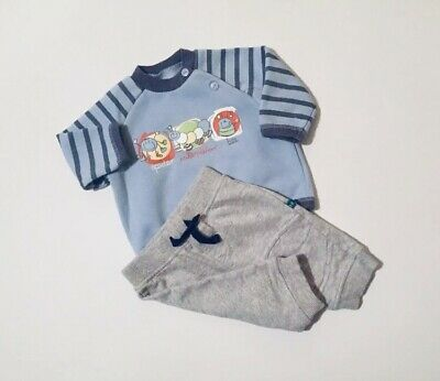 Baby Boys Outfit Blue Zoo St Bennard Blue Jumper And Jogging Bottom 0-3 Months