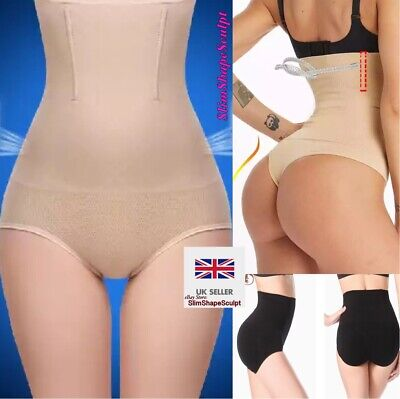 Womens Tummy Tucker Knickers Shapewear Stomach Support Control Thong Briefs UK
