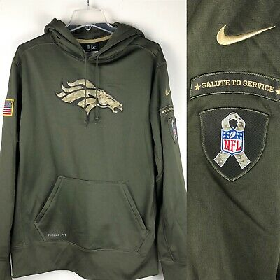 half off b7fd1 6dca0 38 NIKE DENVER Broncos Therma Sideline Coaches Jacket Navy ...