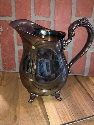 VINTAGE ONEIDA  USA Silver Footed Water Pitcher Jug IN GREAT CONDITION CHEAP