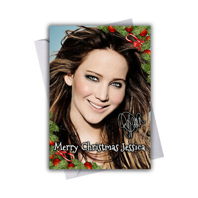 EXTRA LARGE Hunger Games **Personalised A4 Birthday Card** Jennifer Lawrence