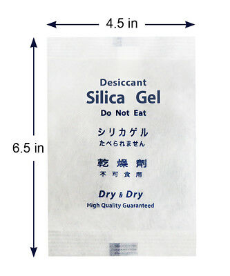 "200 gram X 100 PK ""Dry & Dry"" High Quality Reusable Silica Gel Desiccant Packets"