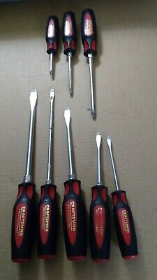 Lot 8 CRAFTSMAN PROFESSIONAL Slotted, Phillips Screwdriver Set  MADE USA TS352