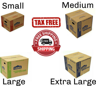 Cardboard Boxes Moving Shipping Packing Storage Mail Multiple Sizes Pack Lot New