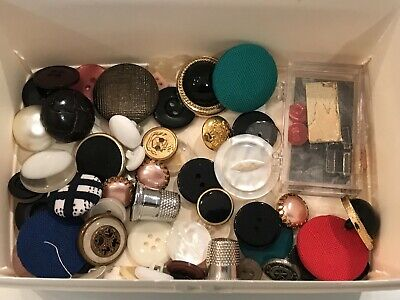 INCREDIBLE MIX!  MIXED LOT of OLD-VINTAGE & NEW Buttons ALL TYPES & SIZES