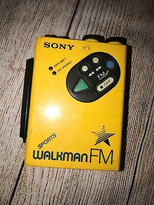 Sony Sports Walkman WM-F5 Yellow Used Waterproof