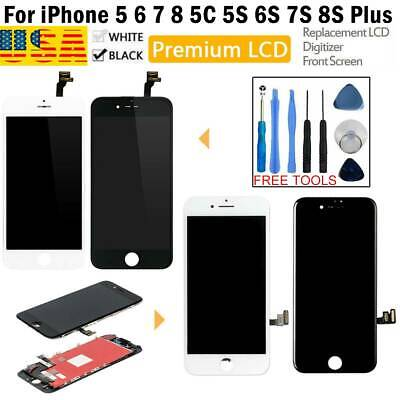 For iPhone 6 7 8 6S 8 Plus LCD Display Assembly Replacement Black White OEM Kit