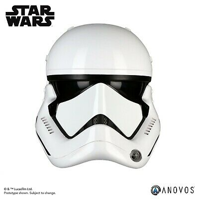 Anovos Star Wars Last Jedi First Order Stormtrooper 1:1 Scale Helmet In Hand New
