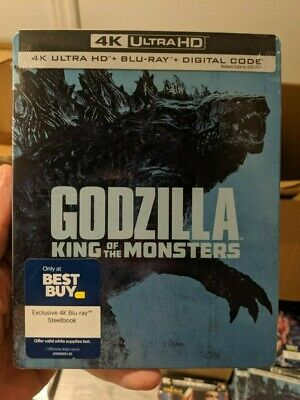 Godzilla King of the Monsters - Best Buy Steelbook (Blu-ray + 4K UHD) NEW!!