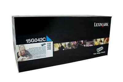 Lexmark 15G042C Cyan Toner Cartridge (Genuine)