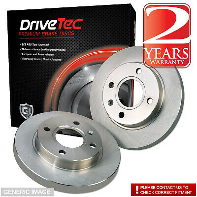 Peugeot 306 1.8 Saloon 108 Drivetec Rear Brake Pads 247mm For Solid Brake Discs