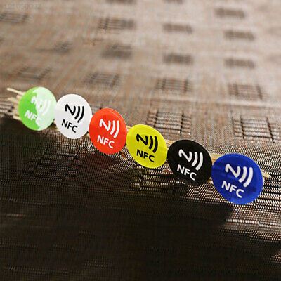 Label NFC Adhesive Chip Label White Stickers 6Pcs NFC Electronic Label Sticker