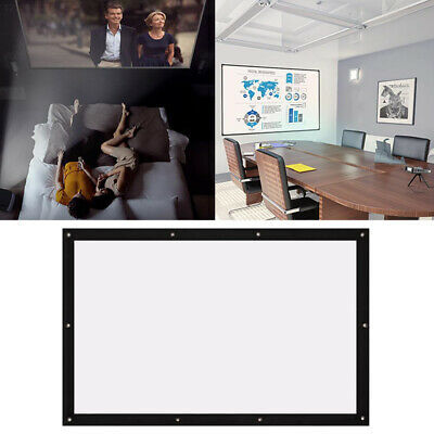 7211 Squares Projection Curtain : White + Black Office 170 Degree View Angle