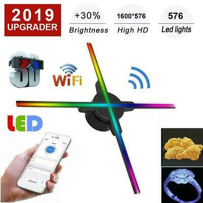 3D HD LED Hologram Projector Fan WIFI Holographic Advertising Display Player 16G