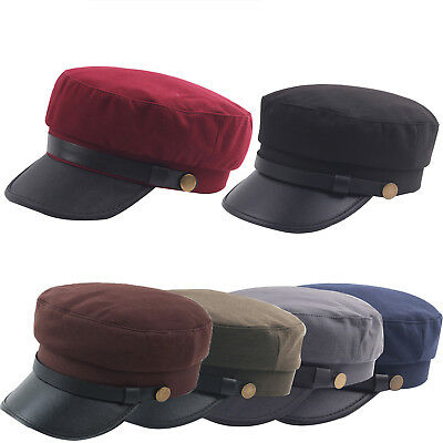 Greek Fisherman Men's Sailor Hats Cap Military Plain Flat Soldier Outdoor Unisex