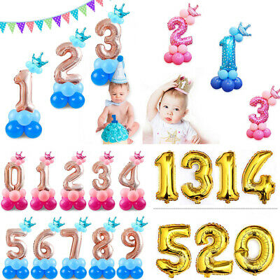 """30""""-32""""inch Self Inflating Giant Foil Number Pannu Balloons Large ballon baloons"""