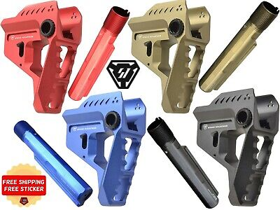 SI PIT VIPER and 7 Slot Extension in Red Blue FDE Black from Strike