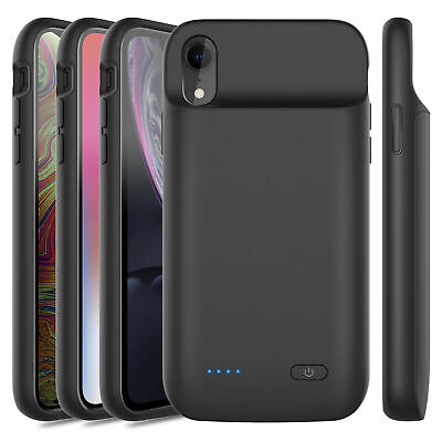 For iPhone X XR XS Max Extended Battery Charger Case Power Bank Charging Backup
