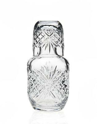 Dublin Crystal Bedside Night Carafe Tumbler Glass Water Guest Cup Jug Pitcher