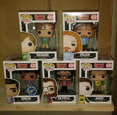 Funko Pop- Silicon Valley Set- Lot of 5- Erlich-Gilfoyle- Dinesh- Jared- Richard