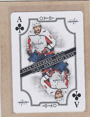 19/20 Opc...alex Ovechkin...ace Clubs...sp...playing Card...free Combined Ship